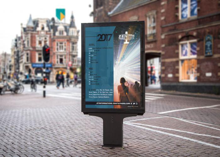 Affiche programmation Zénith Paris La Vilette